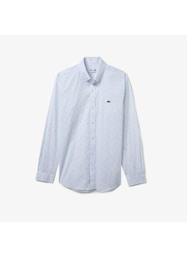 Lacoste Erkek Slim Fit Gömlek CH0175.75B Beyaz